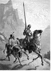 Don Quixote de la Mancha and Sancho Panza by Gustave Dore
