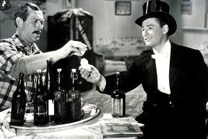 Ward Bond and Errol Flynn