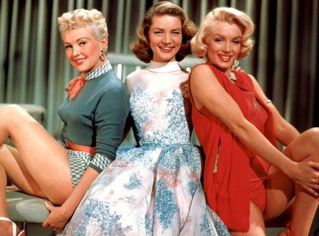 Bettt Grable, Lauren Bacall and Marilyn Monroe