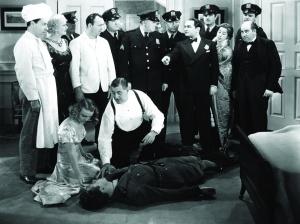 still-of-edward-g_-robinson,-jane-bryan,-ruth-donnelly,-harold-huber,-allen-jenkins-and-willard-parker-in-a-slight-case-of-murder