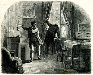 "illustration from ""The Purloined Letter"""