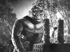 The moment when Kong is smitten and Fay Wray is not