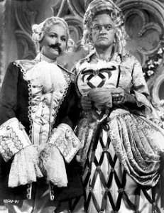 Joan Fontaine and Bob Hope in drag - she keeps losing her moustache and he keeps losing his shape
