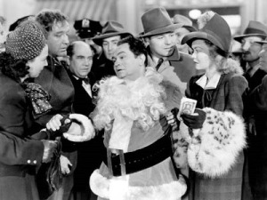 Barbara Jo Allen (lingerie lady), Broderick Crawford, Edward Brophy, Edward G, Robinson, Jack Carson and Jane Wyman
