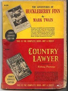 Armed_Services_Edition_UnprocessedHuckleberry_Finn_&_Country_Lawyer
