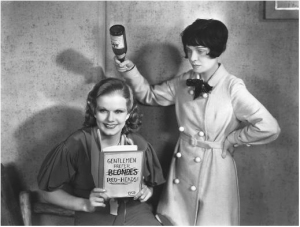 Jean Harlow and Anita Loos - Loos wrote the screenplay for Harlow's hit movie, Red-Headed Woman