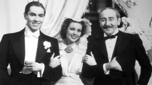 Tyrone Power, Loretta Young and Adolphe Menjou