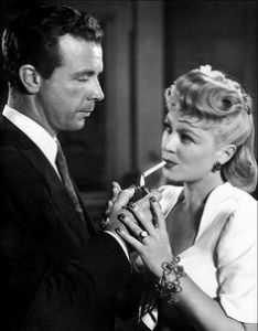 Dick Powell and Claire Trevor
