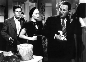 John Garfield, Lana Turner and blackmailer