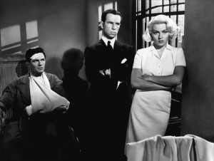 John Garfield, Hume Cronyn and Lana Turner - Cronyn is the shifty lawyer who manages to get Cora off