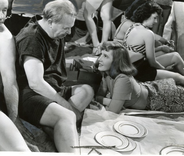 Charles Coburn And Jean Arthur At Coney Island