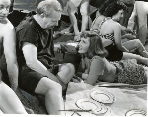 Charles Coburn and Jean Arthur at Coney Island