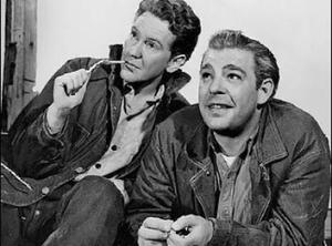 Burgess Meredith and Lon Chaney, Jr. in the 1939 film version