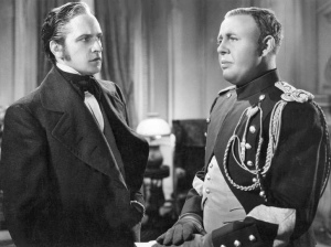 Fredric March and Charles Laughton in one of the many face-offs