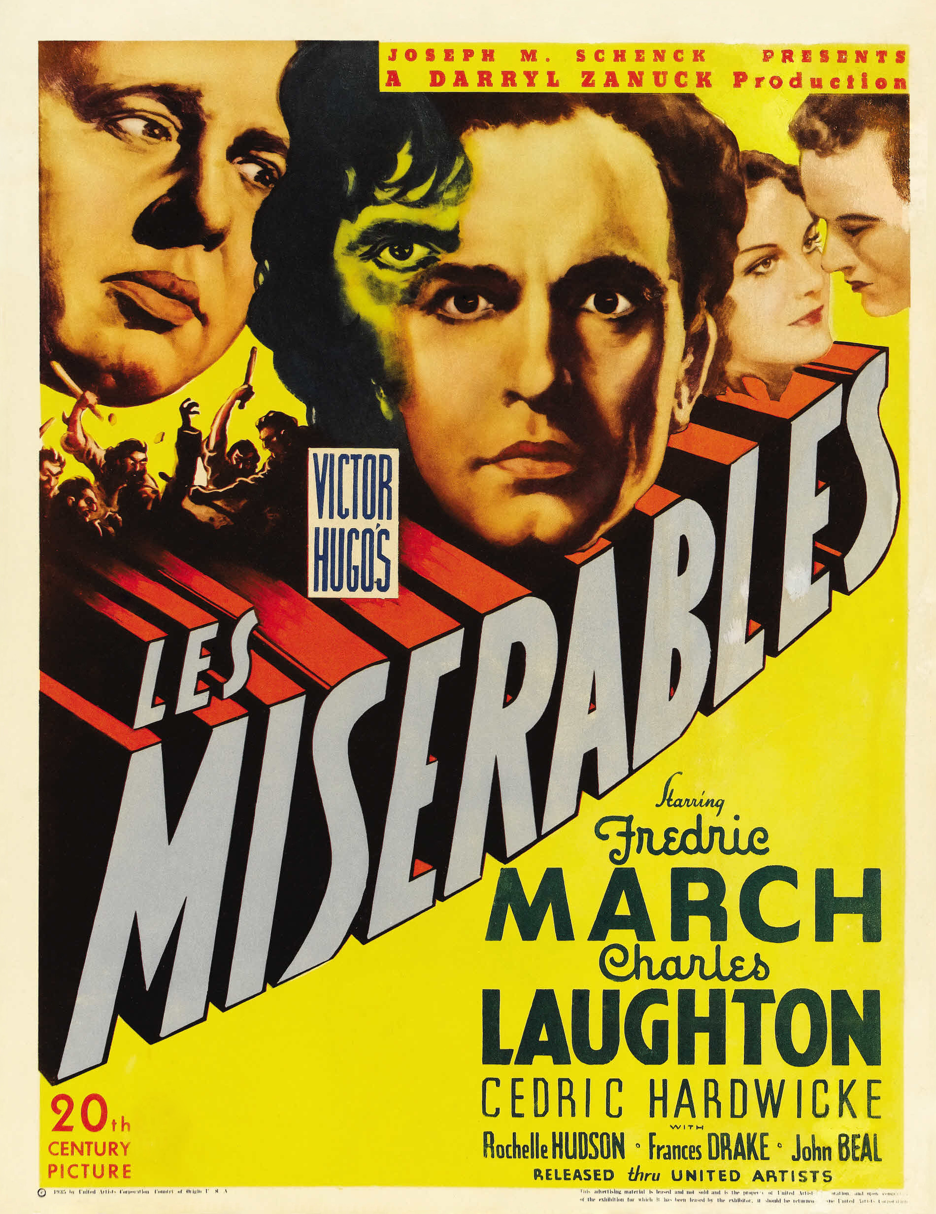 les miserables fredric charles laughton les miserables 1935 poster