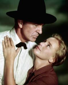 Gary Cooper and Maria Schell