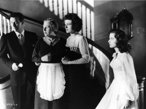 Ray Milland, Barbara Everest as their housekeeper, Ruth Hussey and Gail Russell