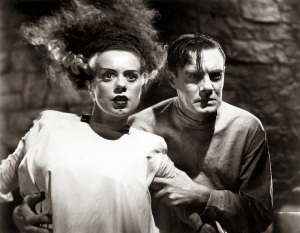 Elsa Lanchester and Colin Clive