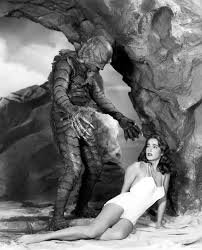 The gill-man - who was played by Ben Chapman on land and Ricou Browning when underwater - and Julie Adams