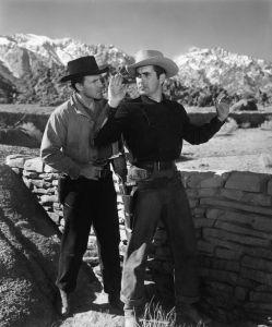 Hugh Marlowe and Tyrone Power