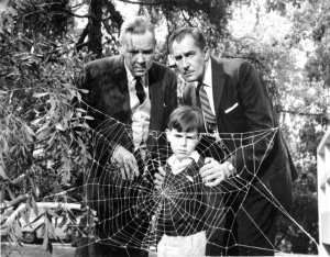 Herbert Marshall, Charles Herbert, and Vincent Price