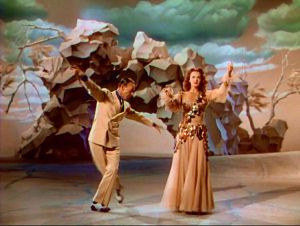 Fred Astaire and Lucille Bremer in a nightmare sequence