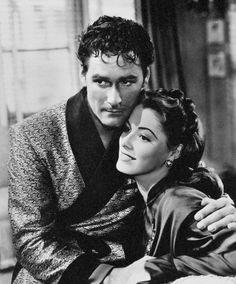 Errol Flynn and Eleanor Parker