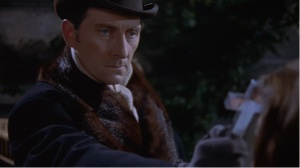 Peter Cushing...wielding a cross