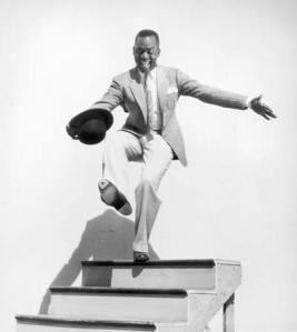 Bill Robinson doing his famous staircase dance