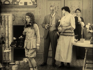 Gwendolyn, her mother and father and the governess