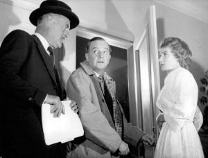 John Williams as Inspector Hubbard during the play's Broadway run