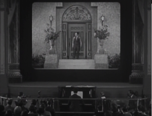 Buster Keaton steps into a movie