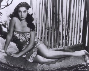 lounging-dorothy-lamour-with-flower