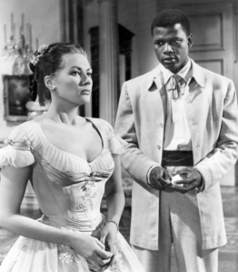 Yvonne De Carlo and Sidney Poitier