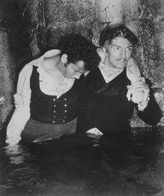 Marius (Mitchell) and Valjean (Rennie)